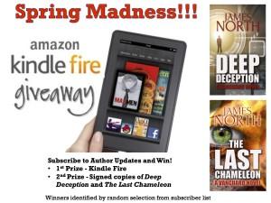 Spring Giveaway - Kindle Fire & Novels